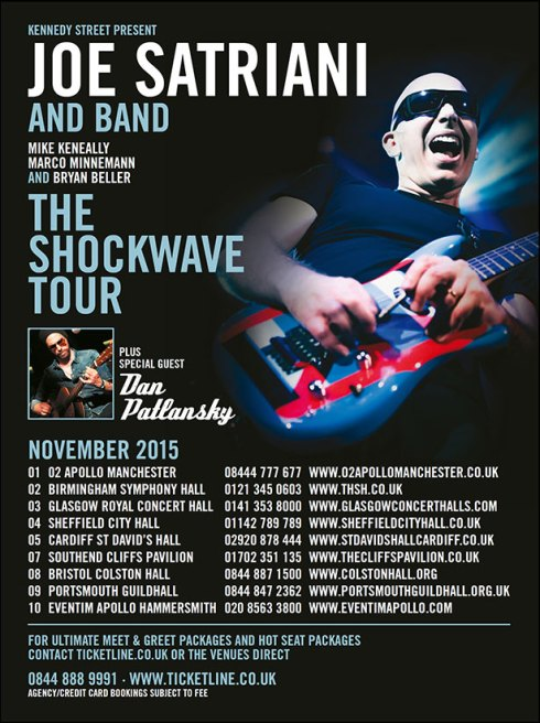 Joe Satriani UK Tour 2015