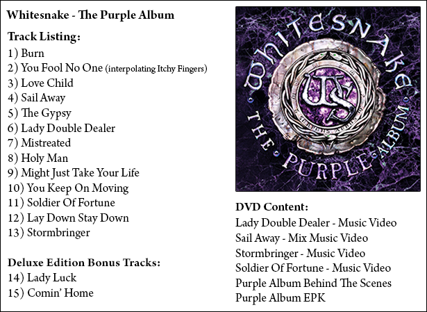 The Purple Album tracklist