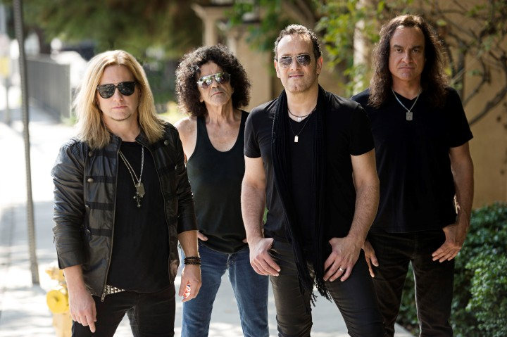 Last In Line (L-R): Andrew Freeman, Jimmy Bain, Vivian Campbell, Vinny Appice. Photo Credit: Ross Halfin.