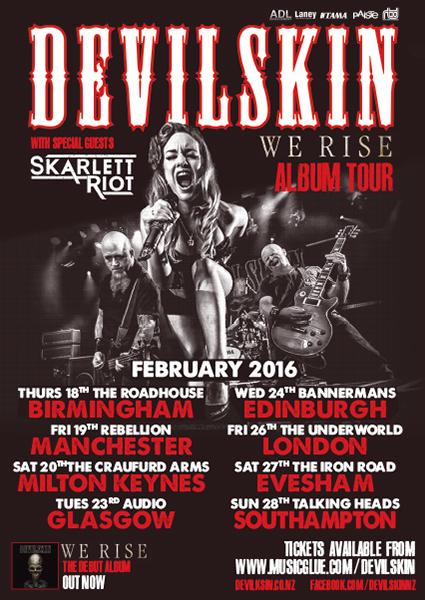 Devilskin UK Tour