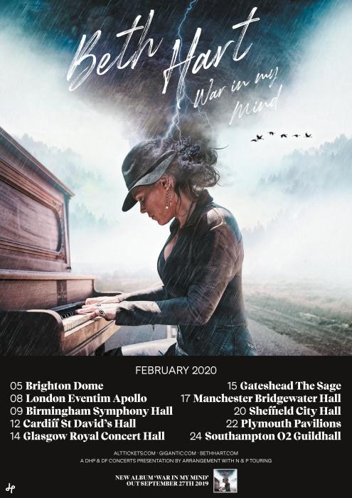 Brand New Album 2020 Beth Hart Announces New Album 'War In My Mind' + UK/Ireland 2020